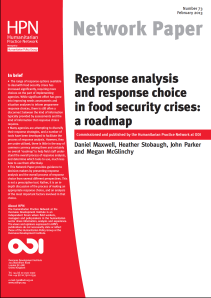 Response analysis food security